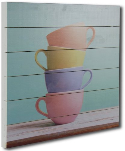 'Coffee Break' Photographic Print on Wood