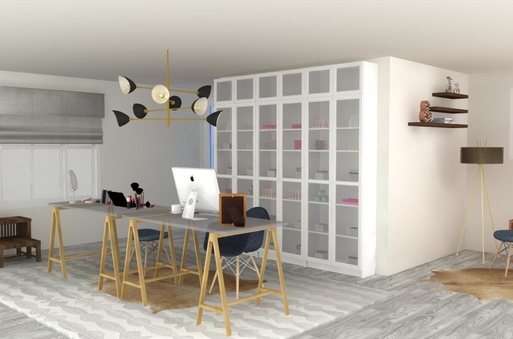 A New Casual Glam Beauty Room E-Design