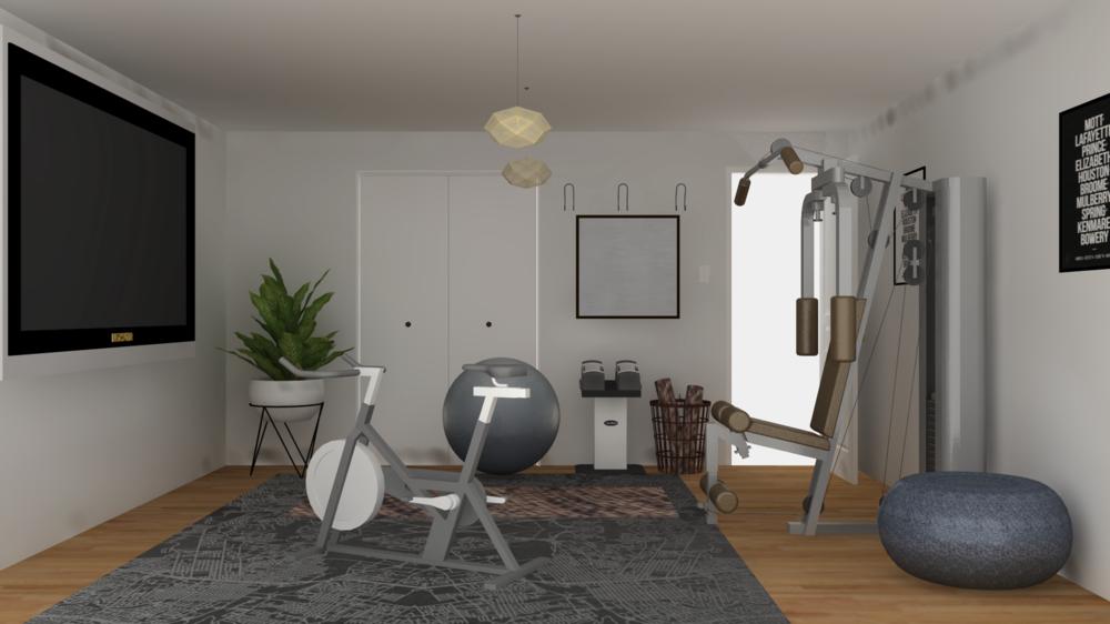 A New Home Gym Haven E-Design
