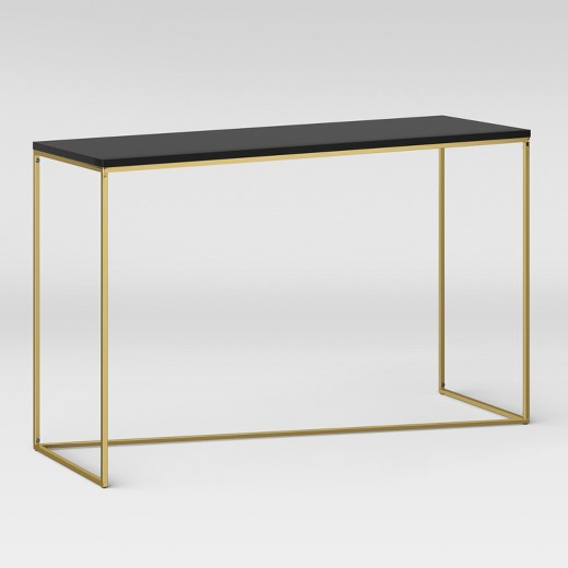 Sollerod Console Table - Brass and Black