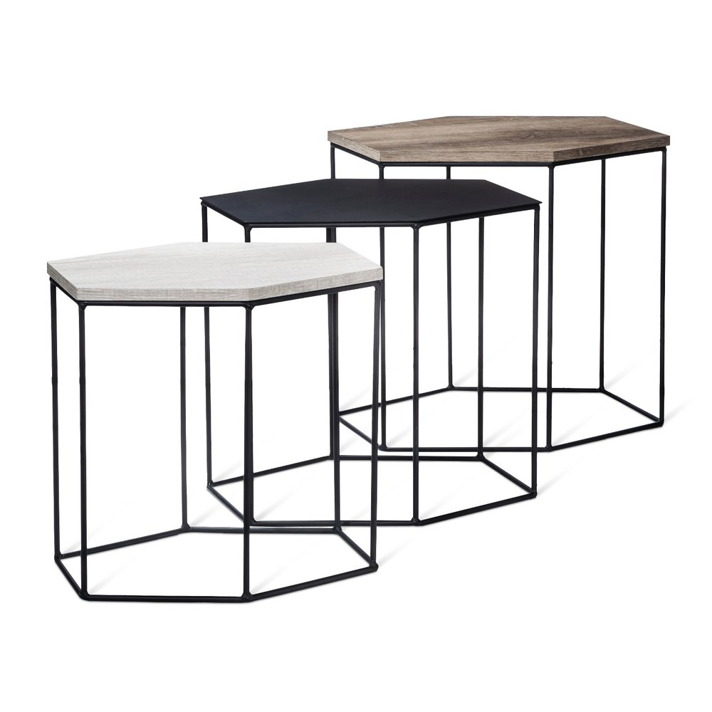 Whitney 3pk Hexagonal Accent Tables