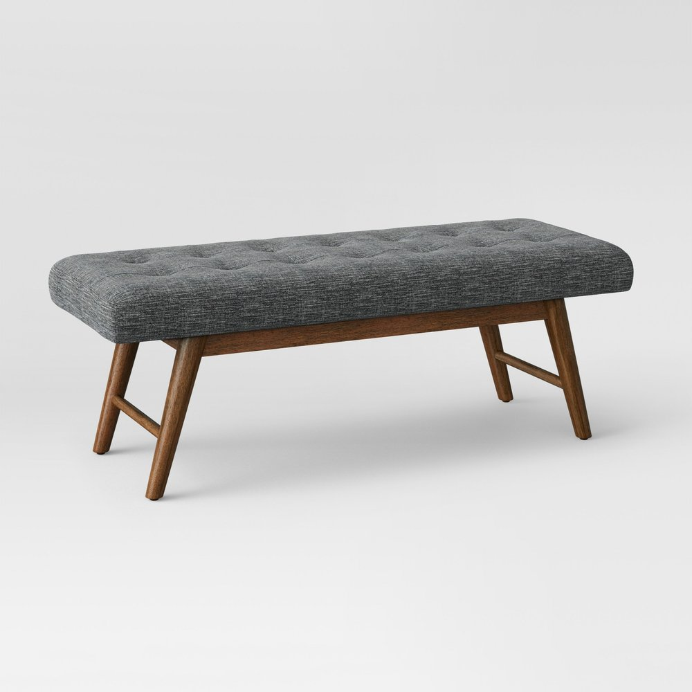 Copan Mid Century Bench Dark Gray