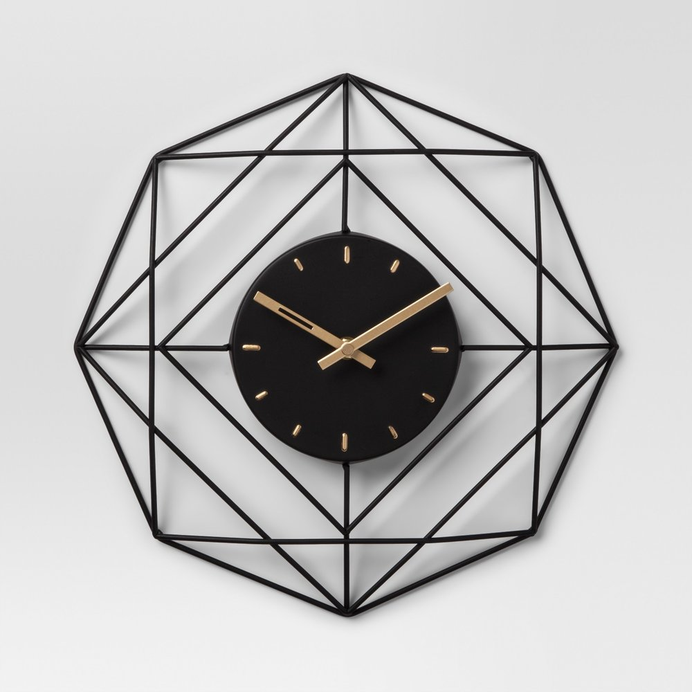 Decorative clock - Black