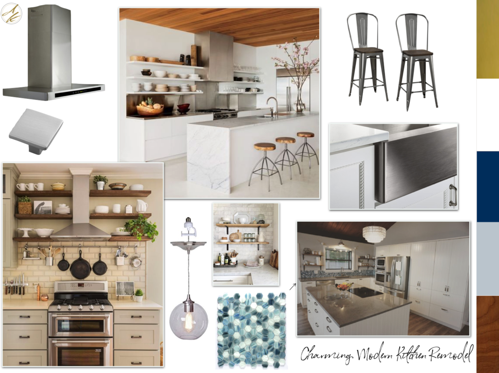 Albie Knows Charming Modern Kitchen Mood Board