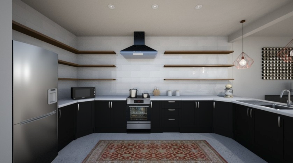 Albie Knows Charming Modern Kitchen Design Rendering
