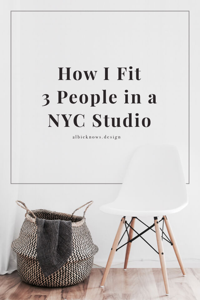 Albie Knows How I Fit 3 People In a New York City Studio