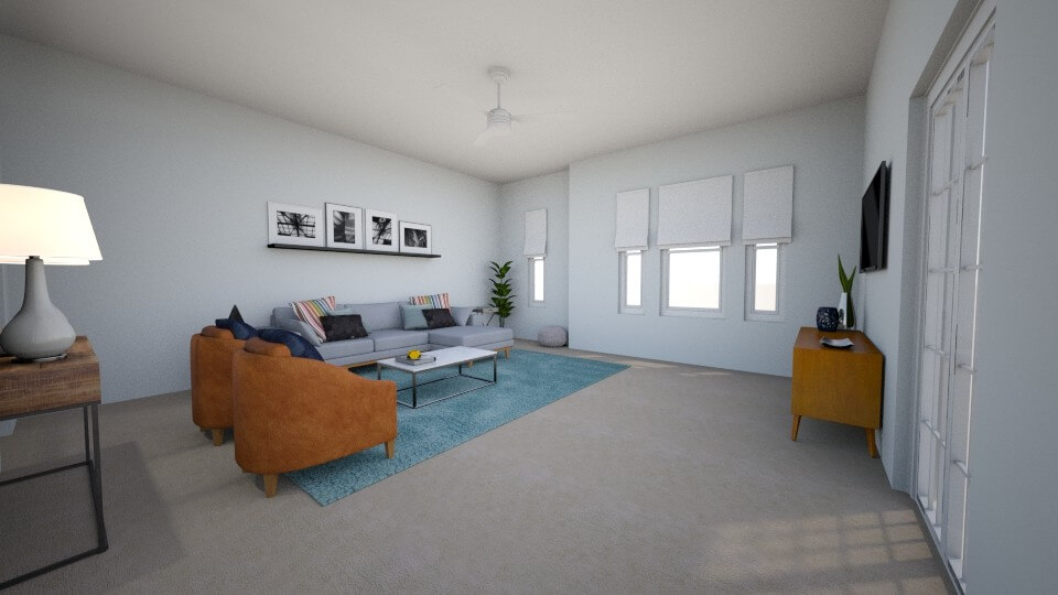 Sophisticated Yet Casual Living Room by Albie Knows