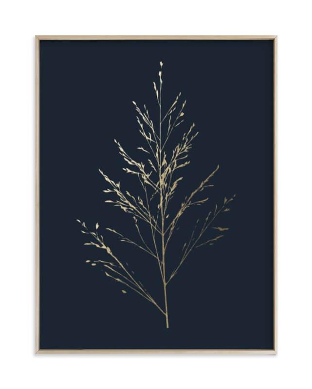 Wild Grass Gold Foil Print