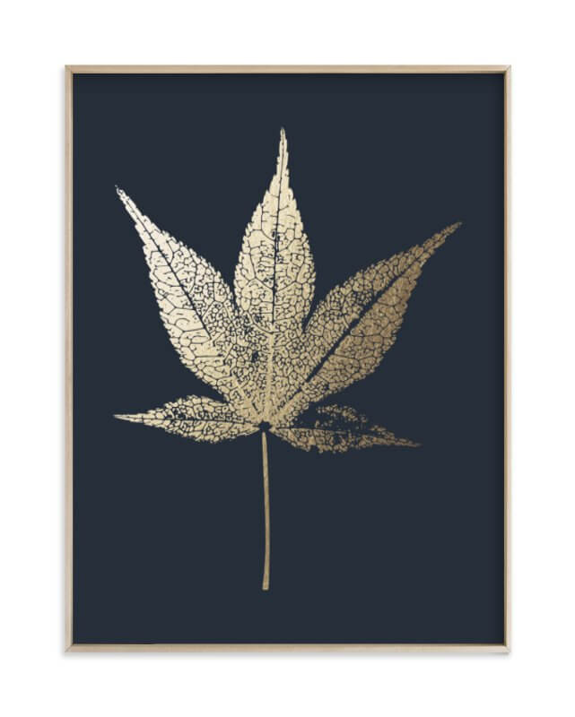 Japanese Maple Gold Foil Print