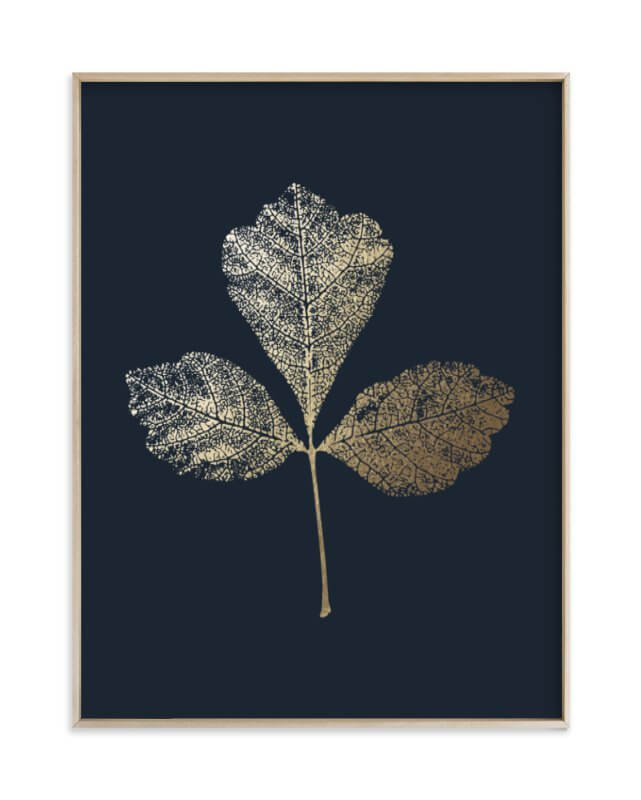 Fragrant Sumac Gold Foil Print