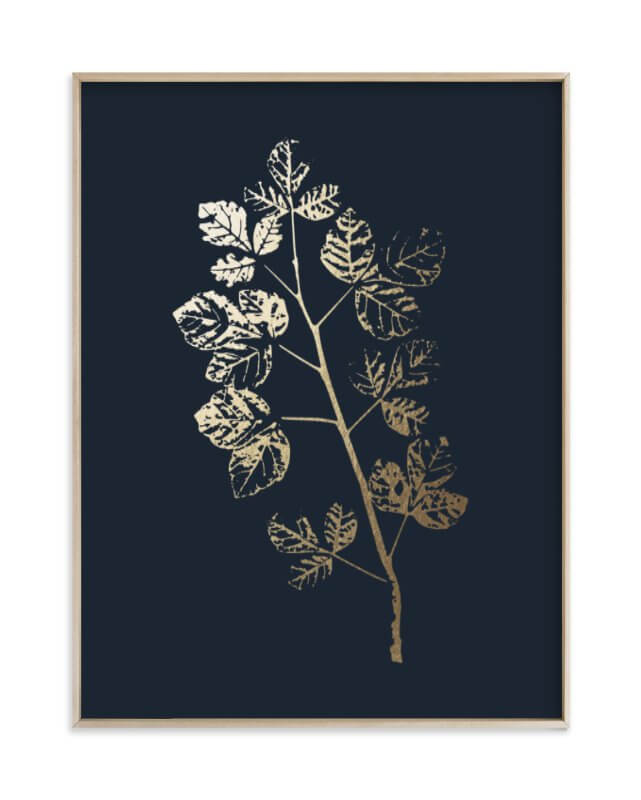 Fragrant Sumac Branch Gold Foil Print