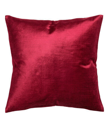 Red Velvet Cushion Cover - H&M Home