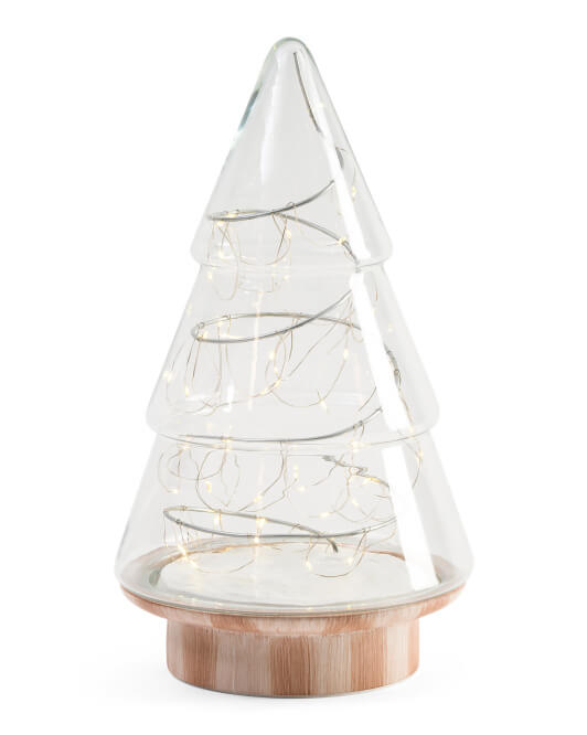 16in Light Up Glass Tree