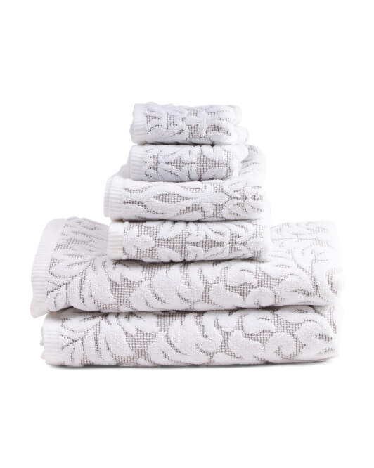 6 pc Tuscany Bath Towel Set - TJ Maxx