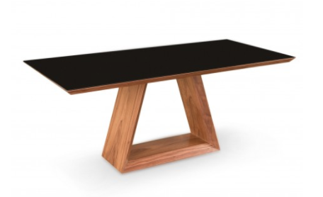 Walnut With Glass Top Kaja Dining Table
