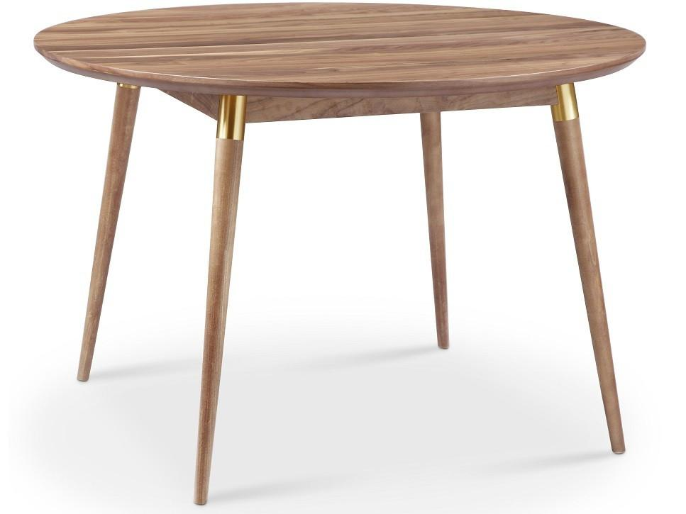 Walnut/Gold Victory Round Dining Table