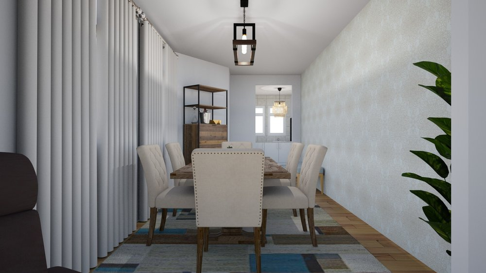 Rustic Charm Living & Dining Combo by Albie Knows
