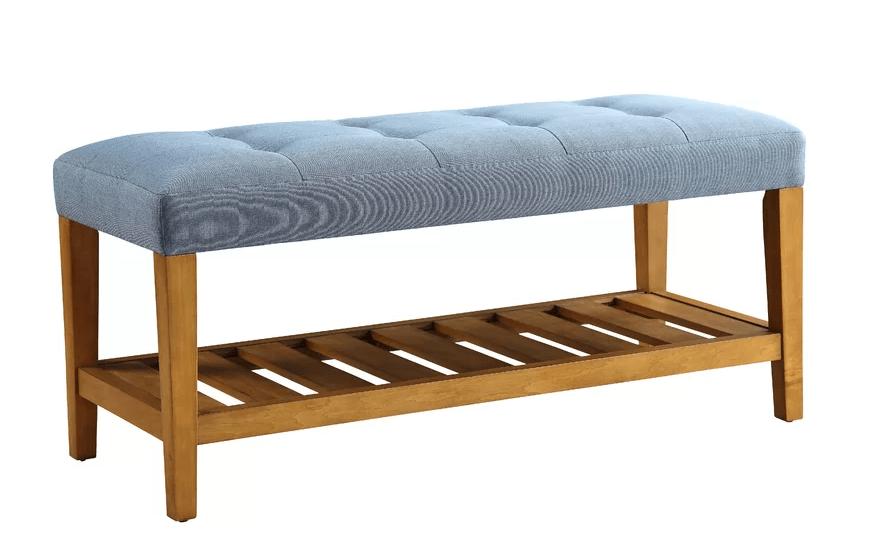 Charla Wood Storage Bench