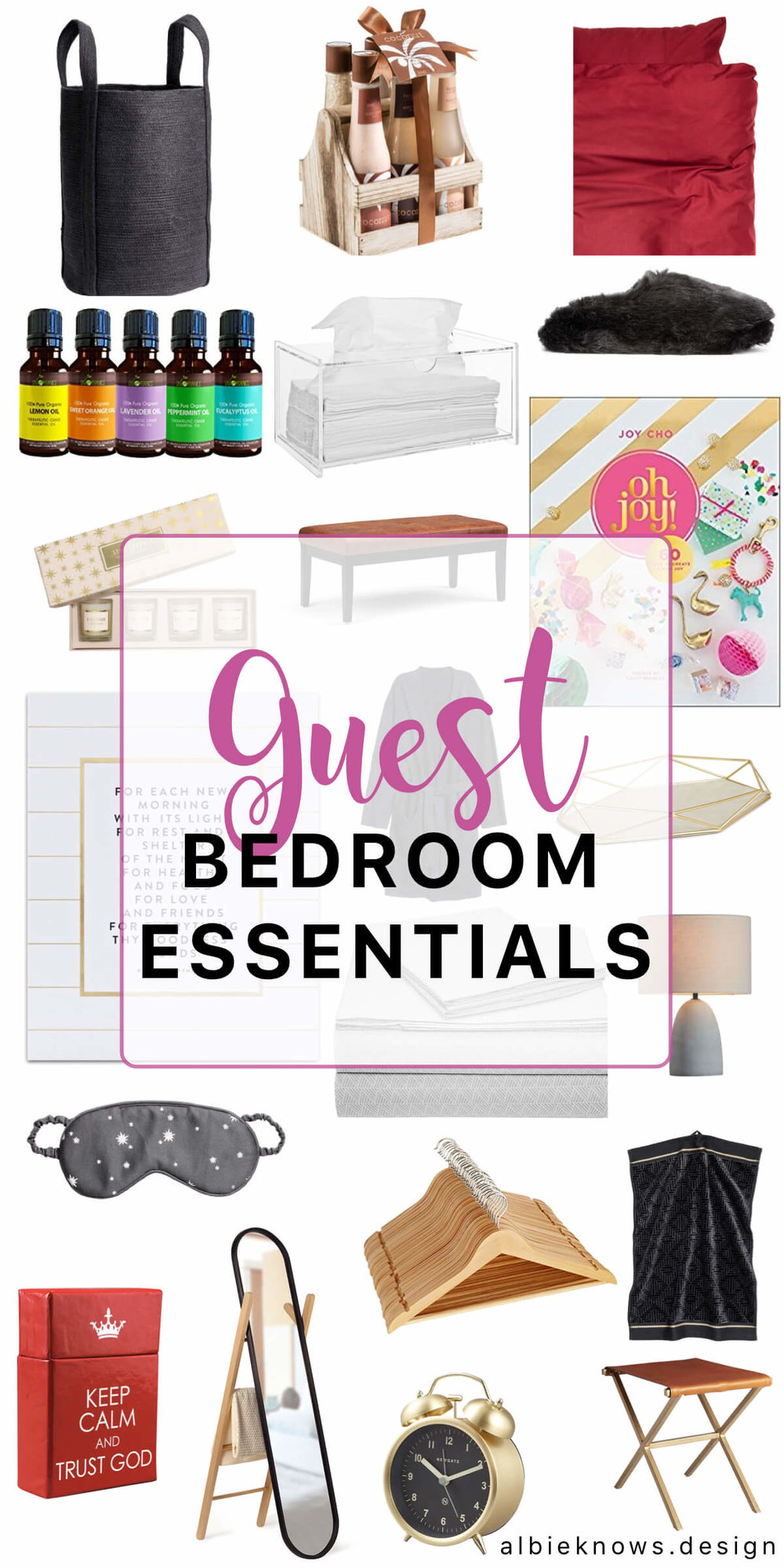 Albie Knows Guest Bedroom Essentials Product List