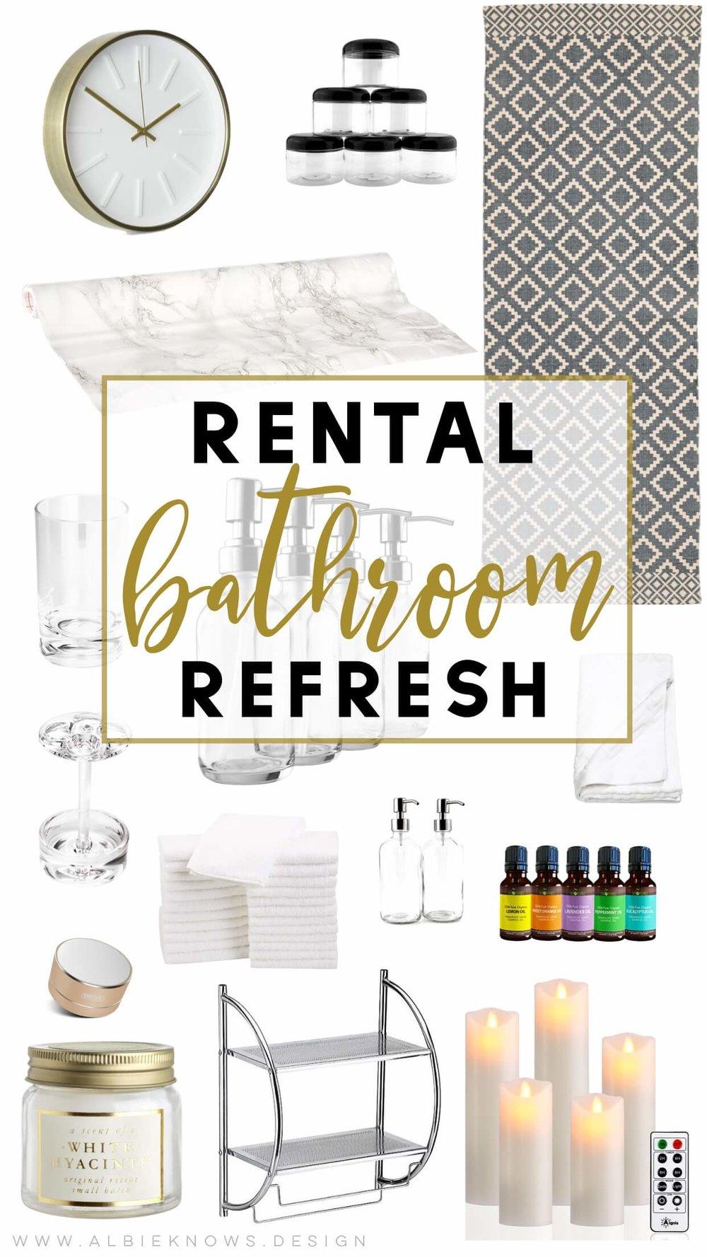 Albie Knows Rental Bathroom Refresh Shopping List