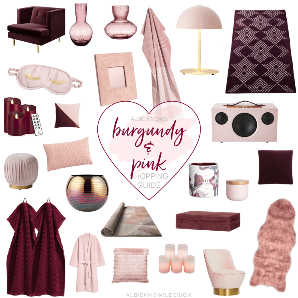 Albie Knows Valentine's Day Blush Pink & Burgundy Shopping Guide