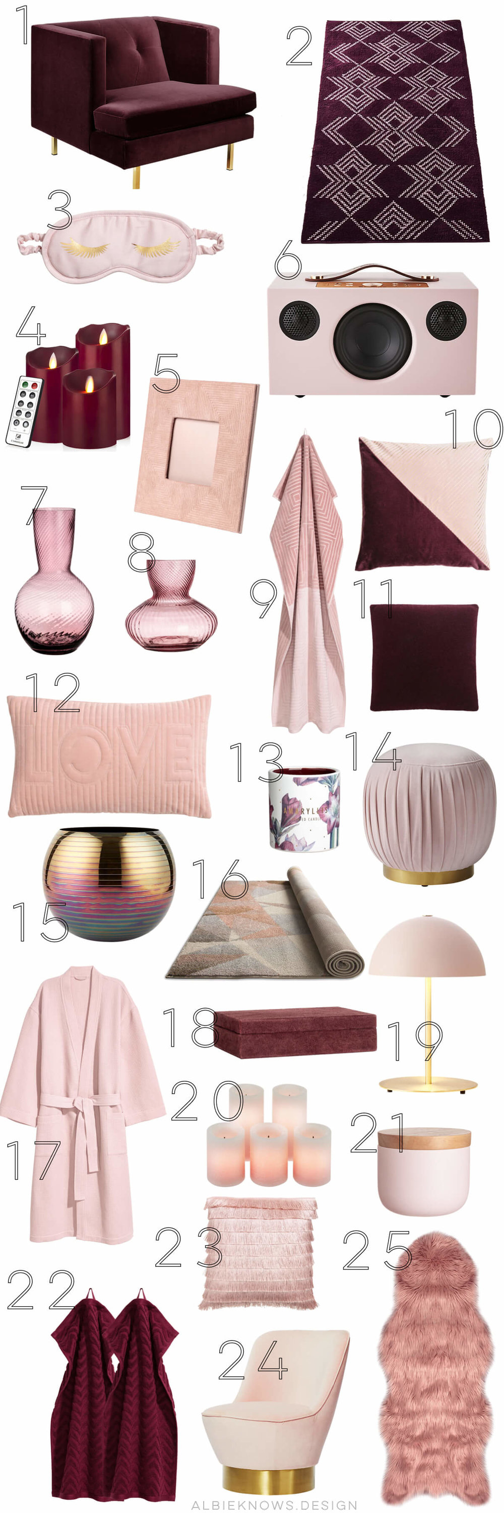 Albie Knows Valentine's Day Blush Pink & Burgundy Shopping List.jpeg