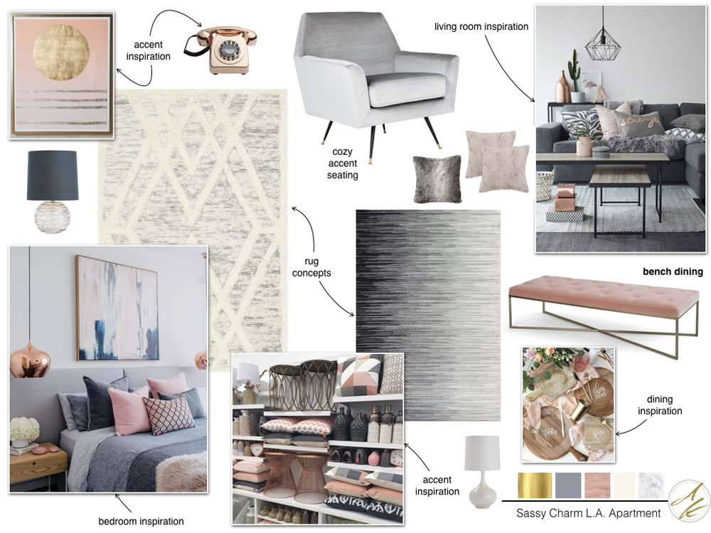 Sassy Charm L.A. Apartment Mood Board by Albie Knows