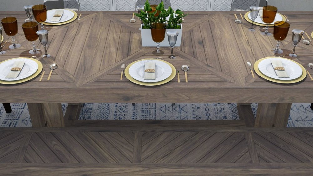 """parquet pattern adds unique geometric flair"""