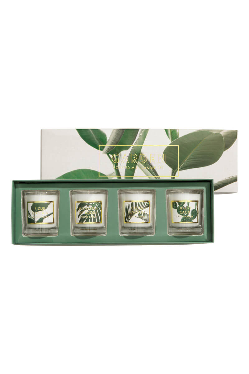 boxed 4 pack scented candles
