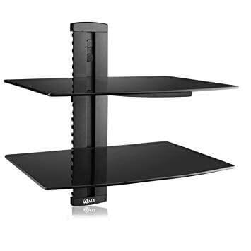 Floating Shelf with Strengthened Tempered Glass