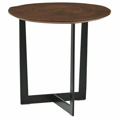 Bristol Natural Edge Black Metal Side Table