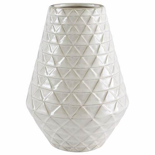 Modern Triangle Pattern Stoneware Vase