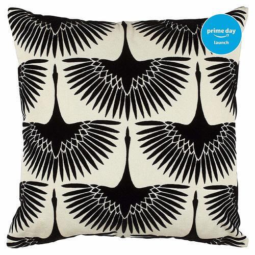 Modern Velvet Geese Silhouette Pillow