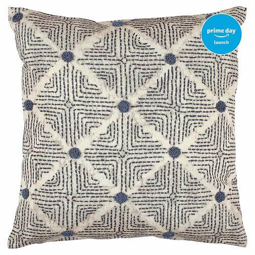 Transitional Tufted Dot Diamond Pillow