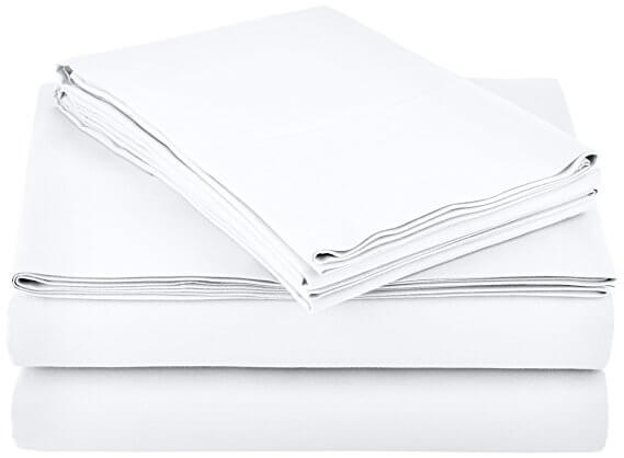 Microfiber Sheet Set - Queen, Bright White