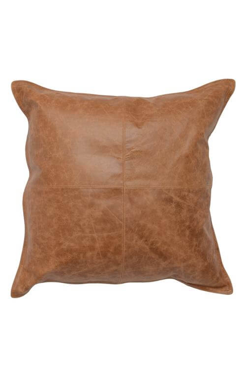 Dumont Leather Accent Pillow