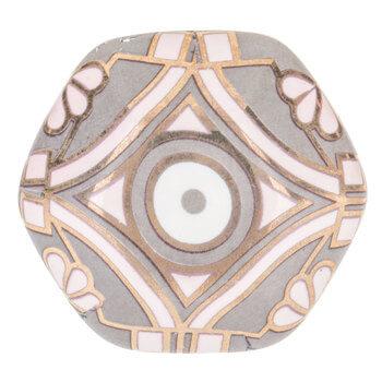 Pink & Gray Art Deco Knob