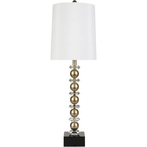 Gold Sphere Floor Lamp