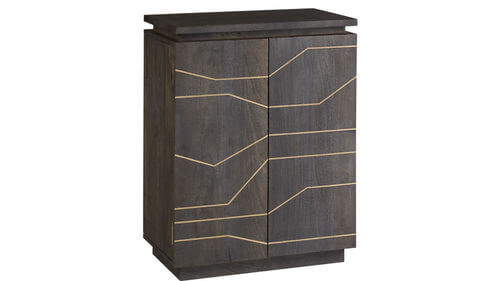 Brass Inlay Cabinet   CB2