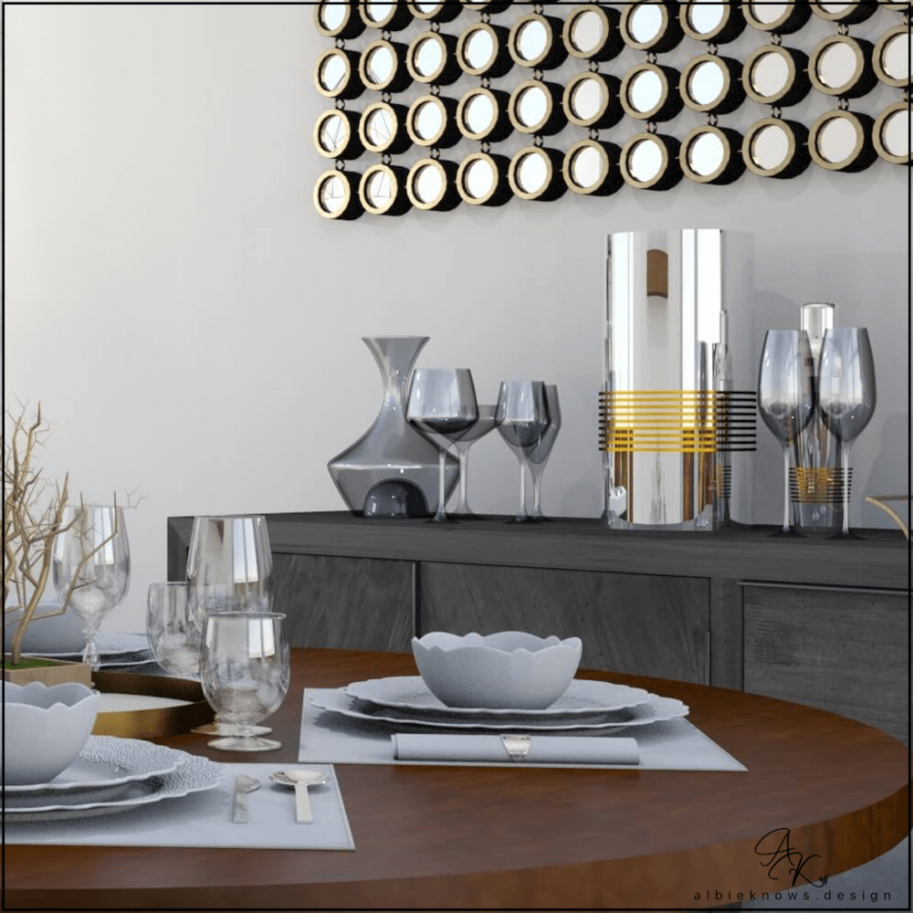 Dining Room Sideboard & Bar   by Albie Know