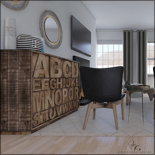 Living Room Sideboard    by Albie Know
