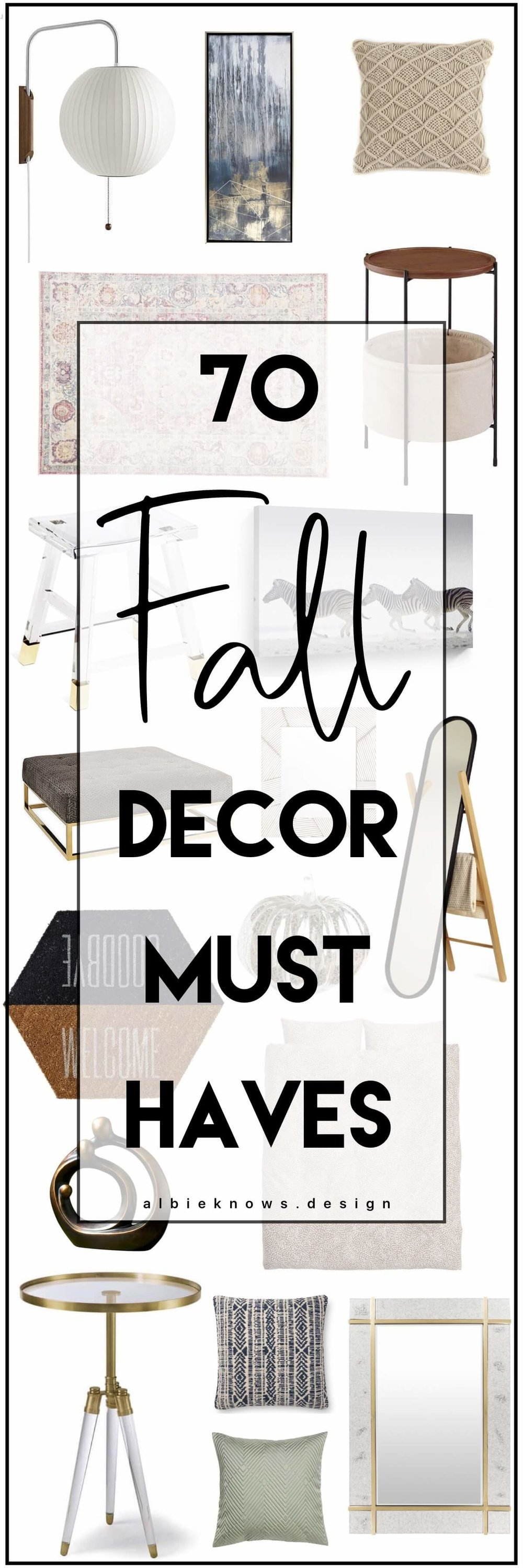 PIN FOR GOOD VIBES | ALBIE KNOWS FALL DECOR WISHLIST