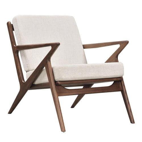 Jet Accent Chair Walnut Wood Finish