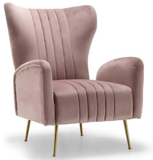 Spady Velvet Wingback Chair