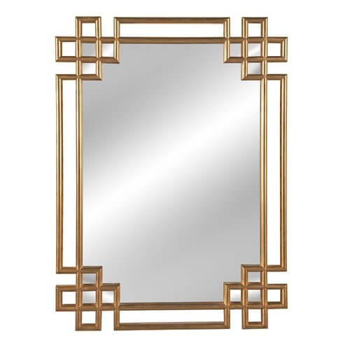 Hrima Rectangle Gold Wall Mirror