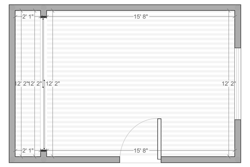 One Room Challenge - Albie Knows Hygge Master Bedroom - Floor Plan