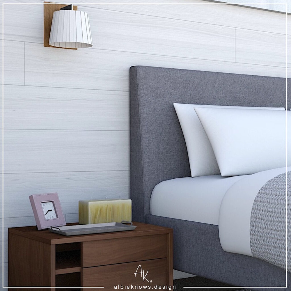 One Room Challenge - Albie Knows Hygge Master Bedroom - Rendering Plan