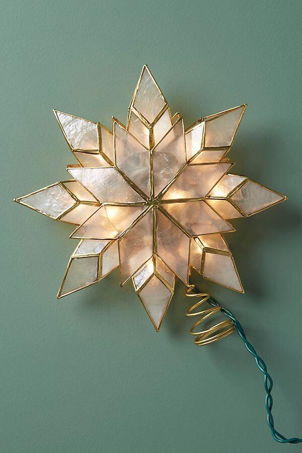 Capiz Star Tree Topper - $38.00