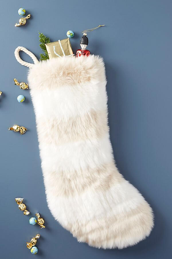 Patterned Faux Fur Stocking - #38.00