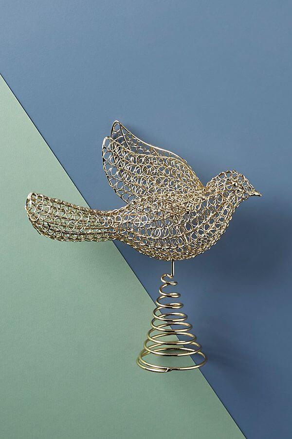 Golden Dove Tree Topper - #38.00